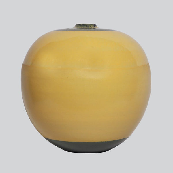 Round Flower Vase- Yellow
