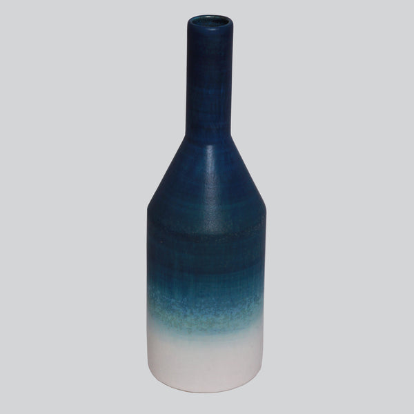 Indigo Fade Bottle Vase