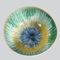 Green and Yellow Splash Ceramic Bowl- Small