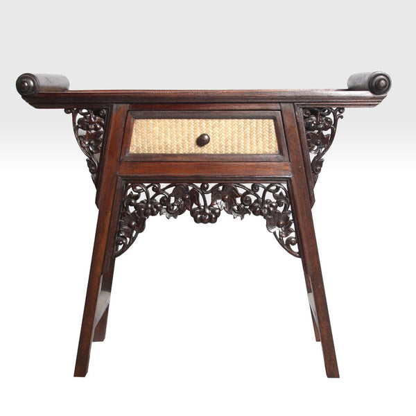 Carved Wood Console Table- Small