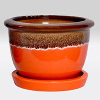 Dual Toned Planter Bowl- Round