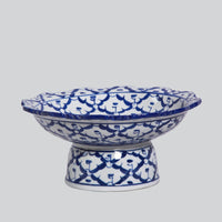 Cobalt Blue and White Bowls on Stand- Small