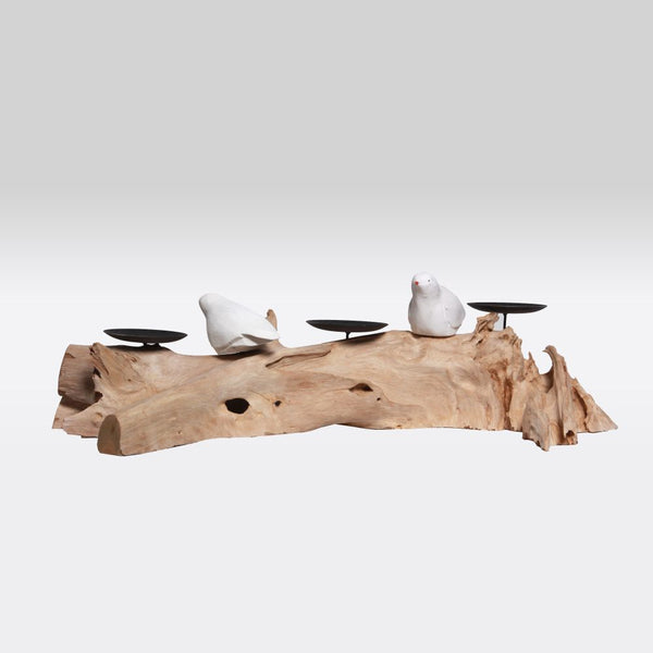 Driftwood Tealight Stand- Bird