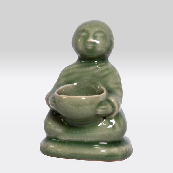 Buddha Tea Light Stand- Green