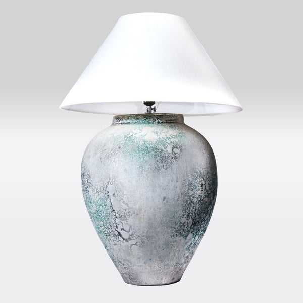 Patina Finish Table Lamp