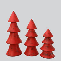 X MAS  TREE  SET OF 3
