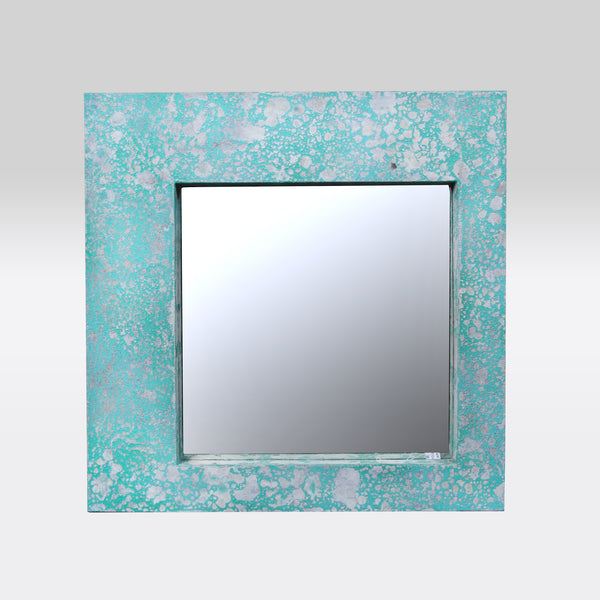 Mirror With Patina Finish