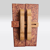 Painted Motif Wooden Door Latches