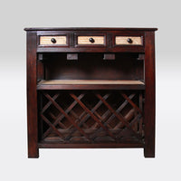 Carved Wood Wine Cabinet