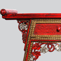 Red Console Table with Mirrorwork