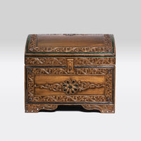 Rounded Golden Wooden Chests- Big