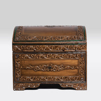 Rounded Golden Wooden Chests- Small