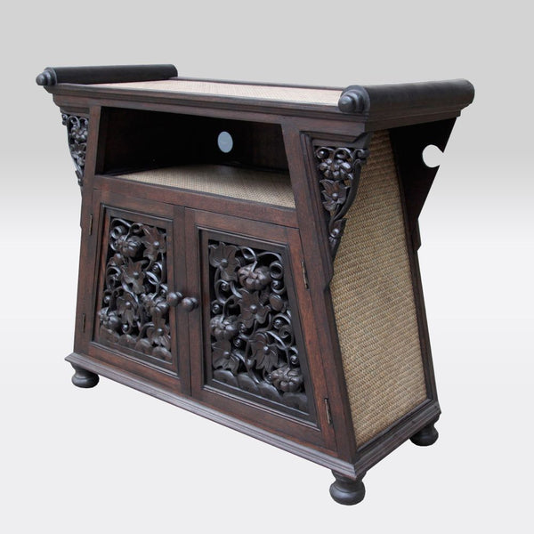Carved Wood TV Cabinet