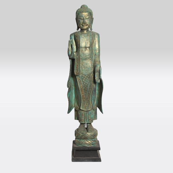 Gold and Green Standing Buddha