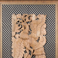 Carved Teak Wood Wall Panel