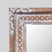 Mirror with a Wooden Carved Frame