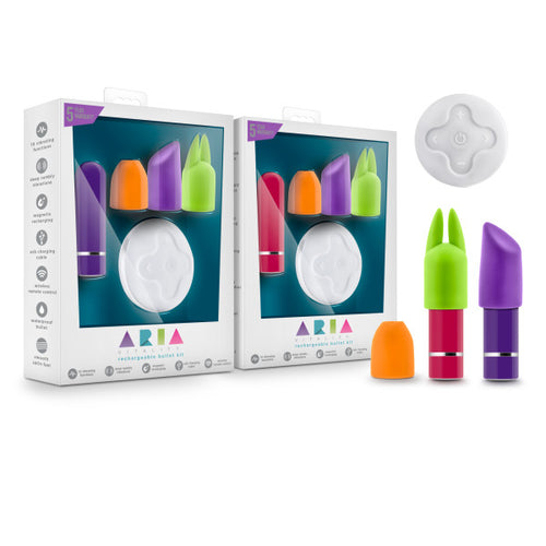 Aria - Vitality - Rechargeable Bullet Kit With Wireless Remote