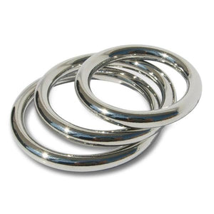 Metal Cock Ring, 3 Pack