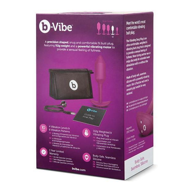 b-Vibe Vibrating Weighted Snug Plugs - Kinkly Shop