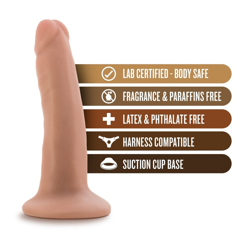 "Blush Silicone Willy's 5.5"" - Kinkly Shop"