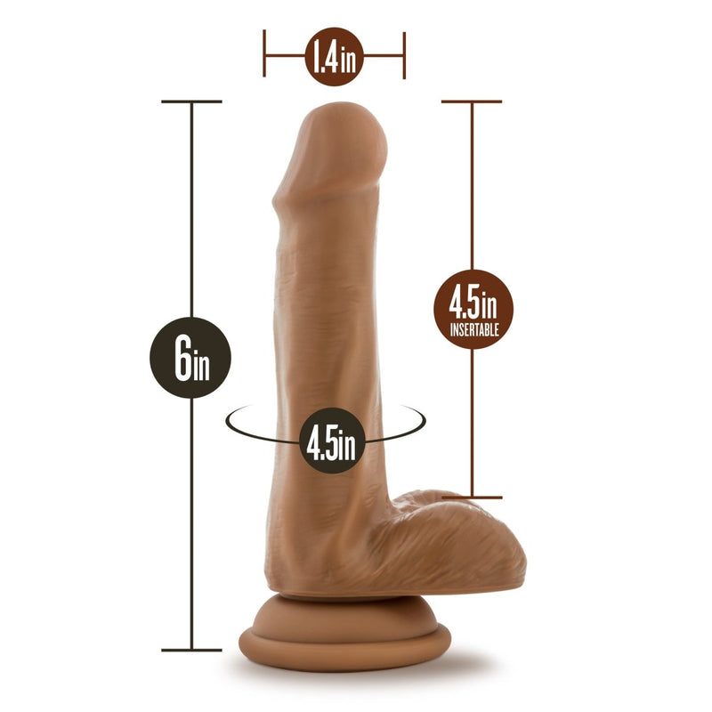 "Blush Silicone Willy's 6"" - Kinkly Shop"