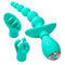 Cloud 9 3-Tip Massager Kit in Teal | Kinkly Shop
