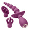Cloud 9 3-Tip Massager Kit in Plum | Kinkly Shop