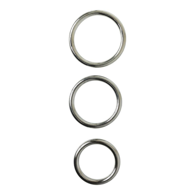 Sportsheets Seamless Metal O Rings, 3 Pack - Kinkly Shop