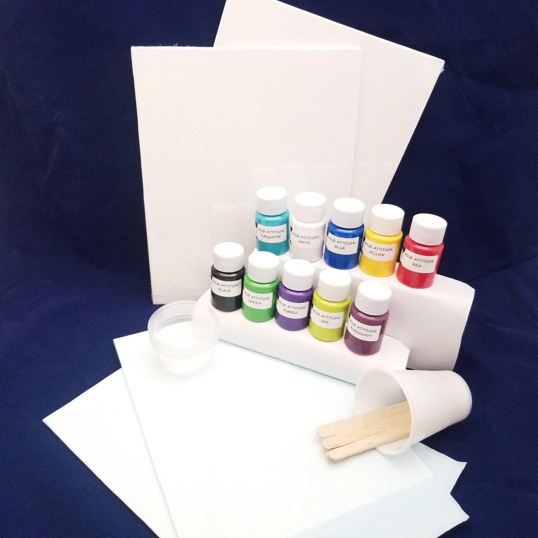 Pour painting kit for kids