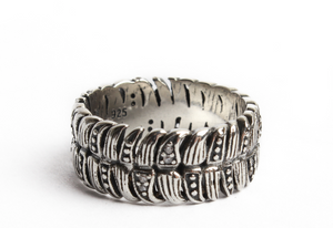 Jungle spirit -Bague  dents en Argent