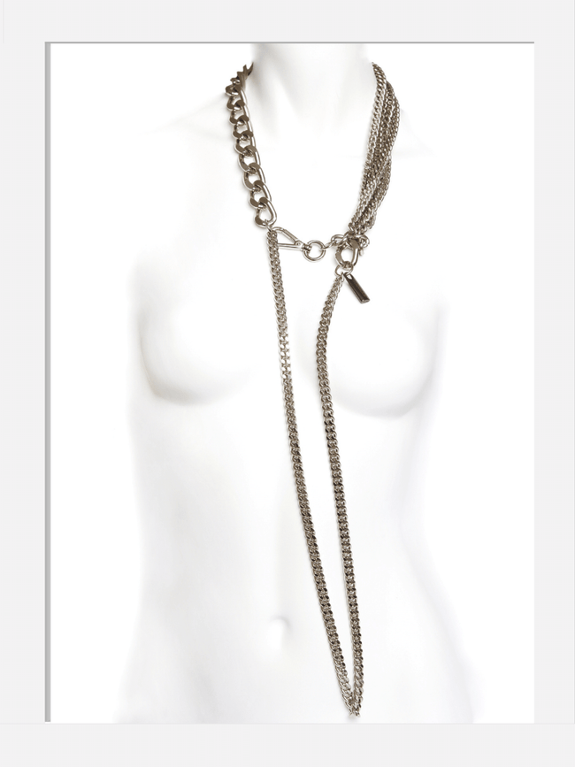 DIAMOND High Fashion glam rock long chain necklace silver .png