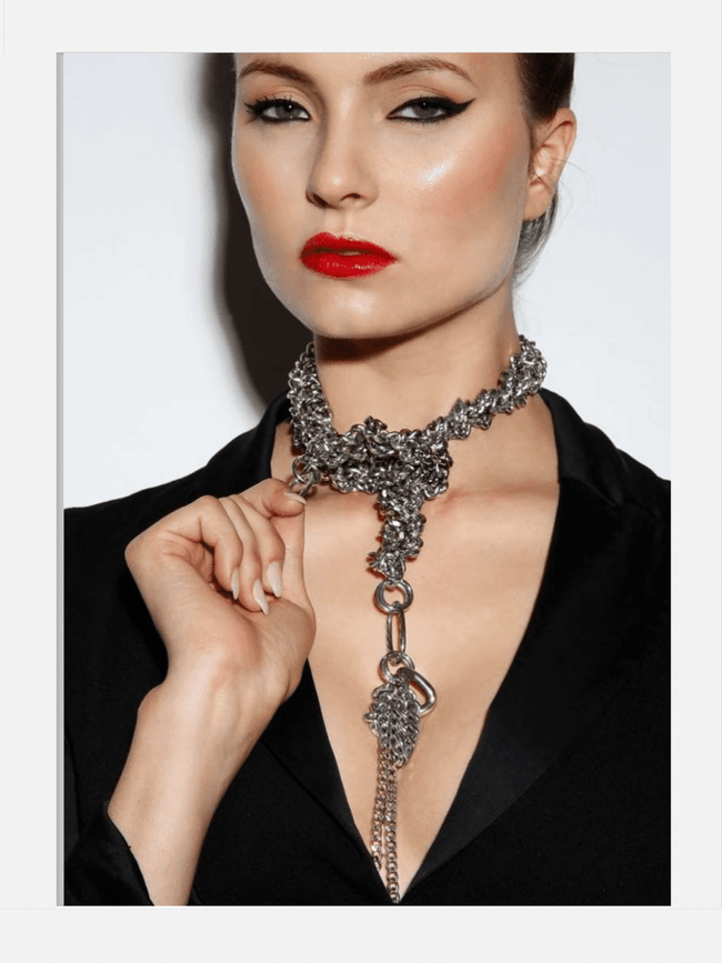 statement chunky snake necklace silver gossip girl sexy necklace