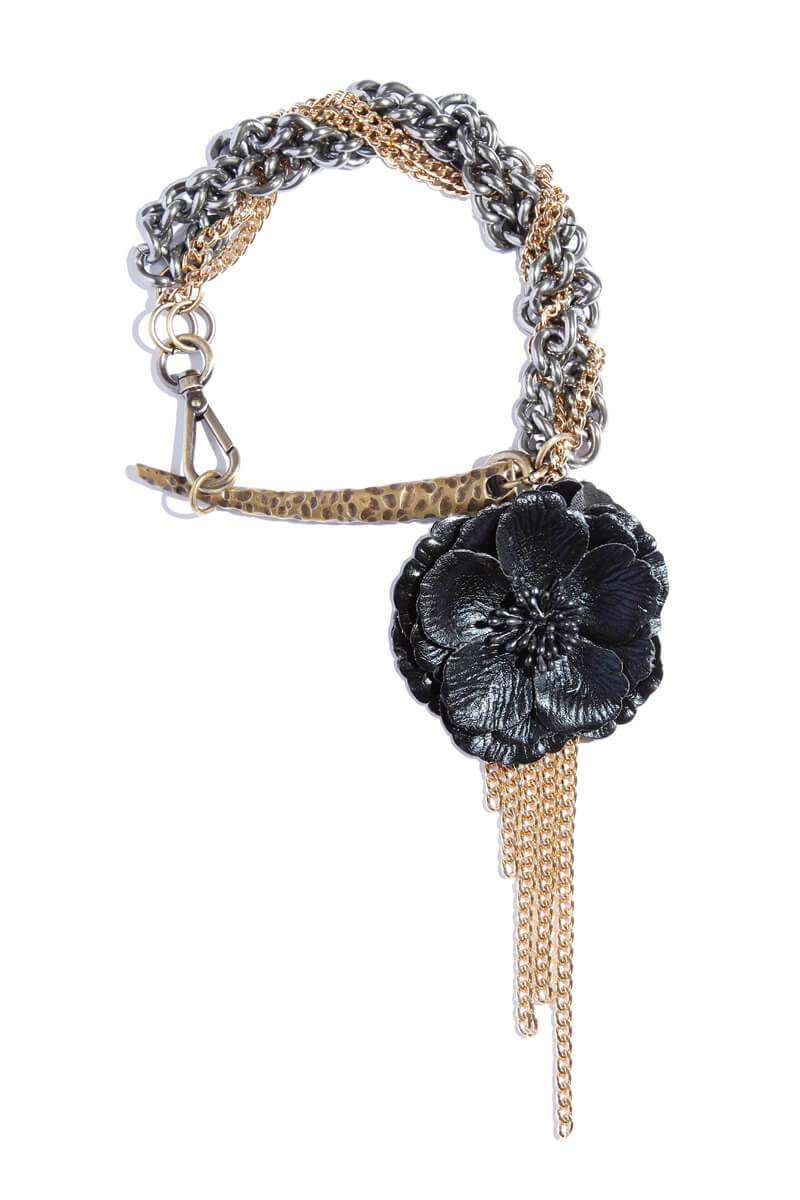 Oversized Statement Chain Flower  Choker