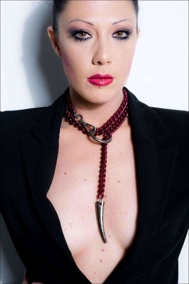 FORBIDDEN Y Necklace - Purple Red  LIMITED EDITION