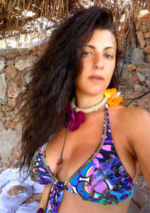 bohemian orchid necklace ibiza beachwear