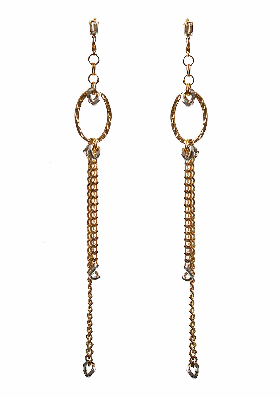 SERENA Long Earrings - Gold & Silver