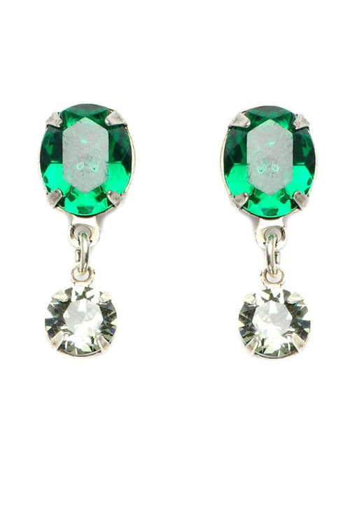 STUD Green Crystal Earrings