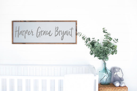 Custom Nursery Name Sign - Custom Nursery Decor - Nursery Name Sign - Nursery Wall Decor - Baby Gift - Baby Sign for Nursery - Kid Name Sign