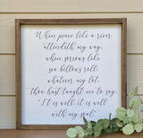 It Is Well With My Soul Sign | Hymn Lyrics | Housewarming Gift | Family Room Sign | Farmhouse Wall Decor | When Peace Like A River