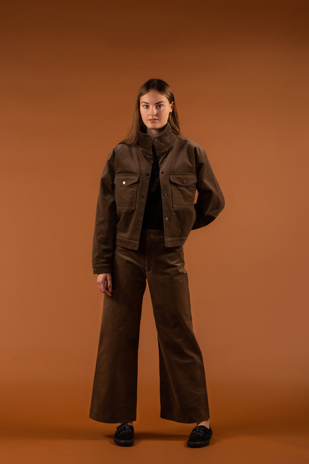 Eco-friendly clothing from Finland by MORICO: Corduroy Jacket & Trousers Stonegrey