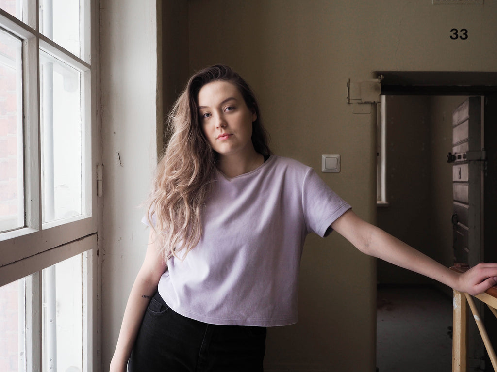 Mori Collective Velour T-shirt Lilac