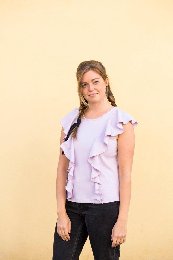 Try on our sustainable clothing Top Waves Top - Sunset - MORICO