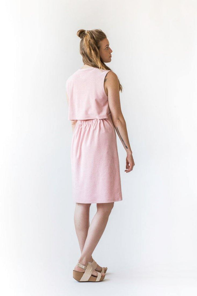 Ariel Midi Dress - Rose Quartz - MORICO