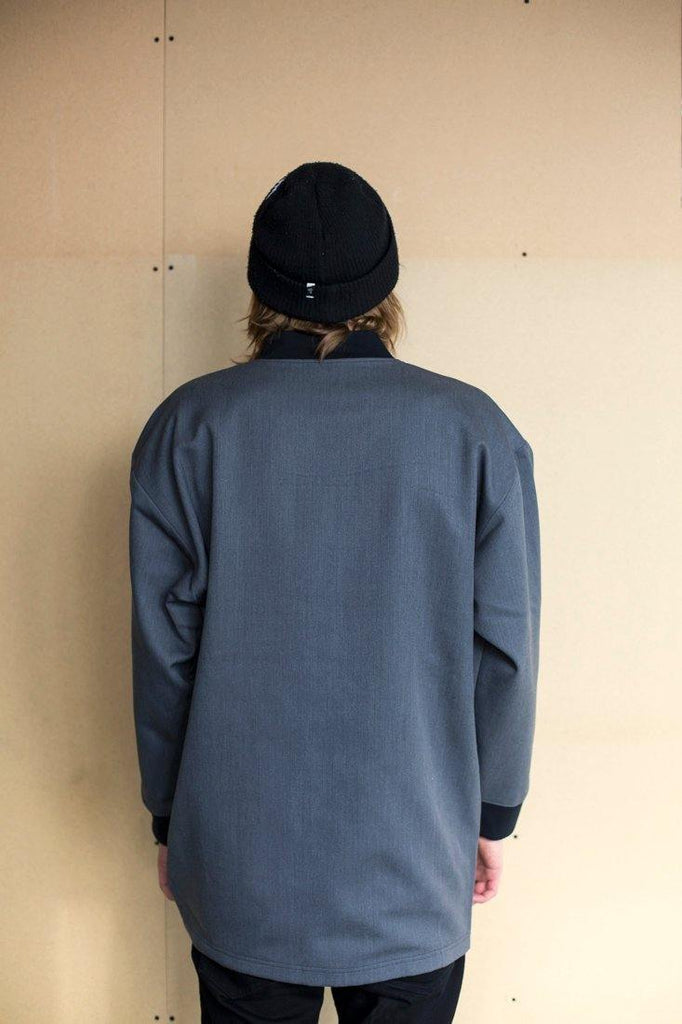 Try on our sustainable clothing Jacket Mori Jacket - Graphite - MORICO