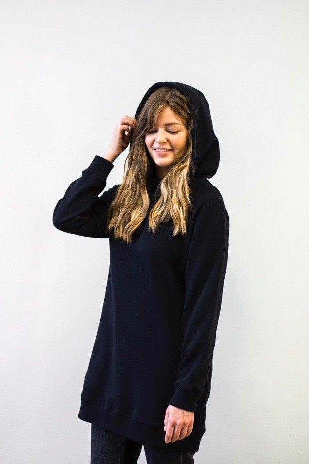 Hoodie Dress - Black