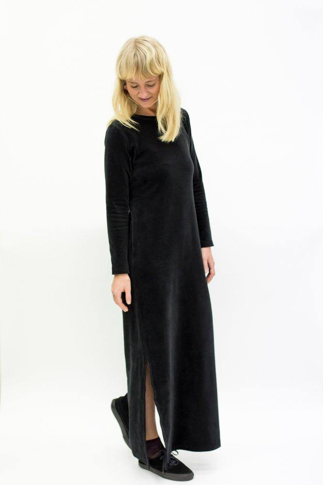 Ariel Rocket Maxi Dress - Black Velvet - MORICO