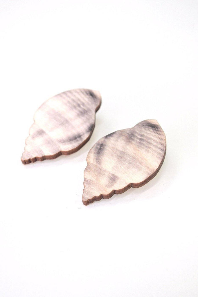 Sea Shell Earrings - Sea Salt