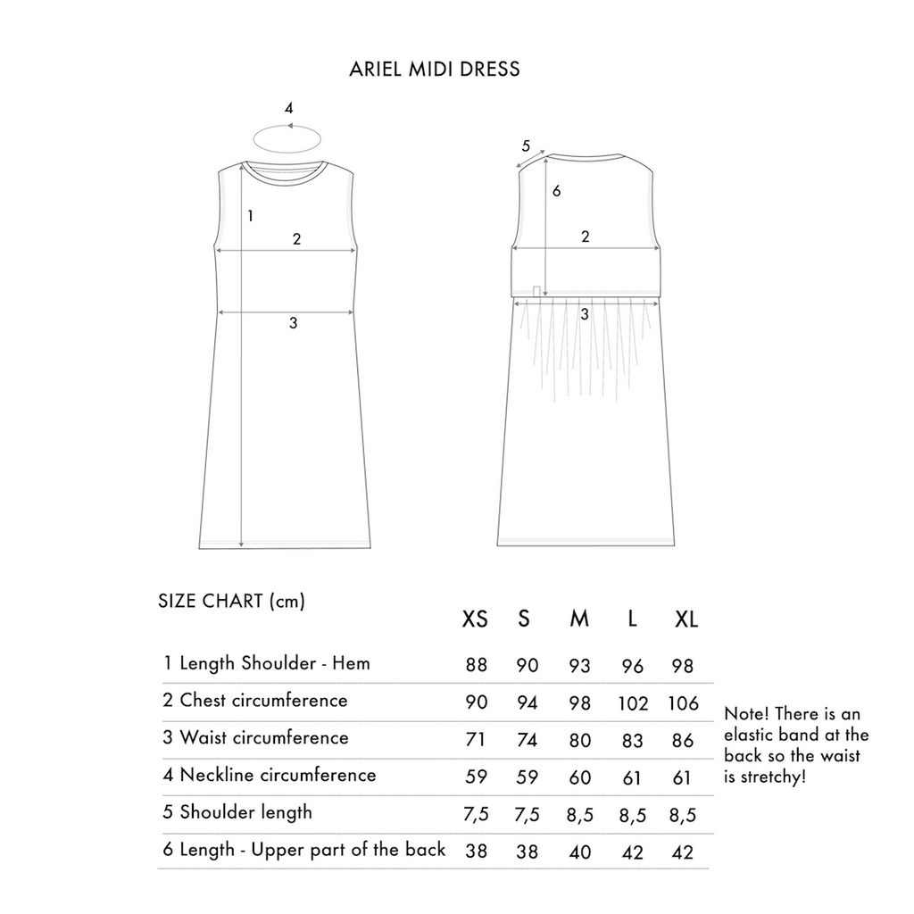 Ariel Midi Dress - Black Sea