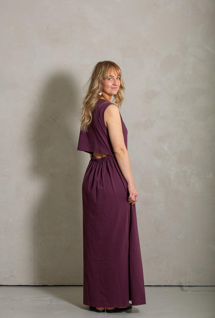 Ariel Maxi Dress - Almandine - MORICO