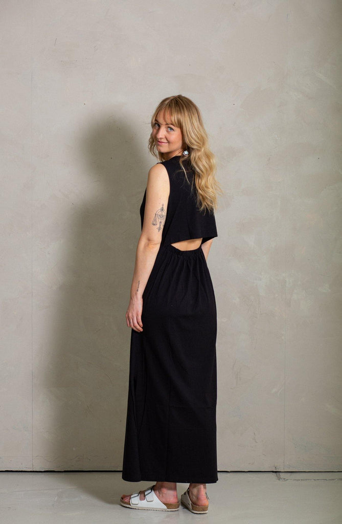 Ariel Maxi Dress - Black Sea